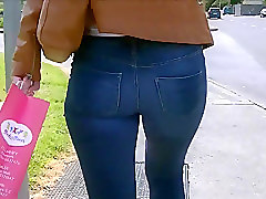 Jeans, Leather, Ass, Tight, Voyeurhit.com