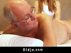 Blonde, Ass, Old Man, Nuvid.com